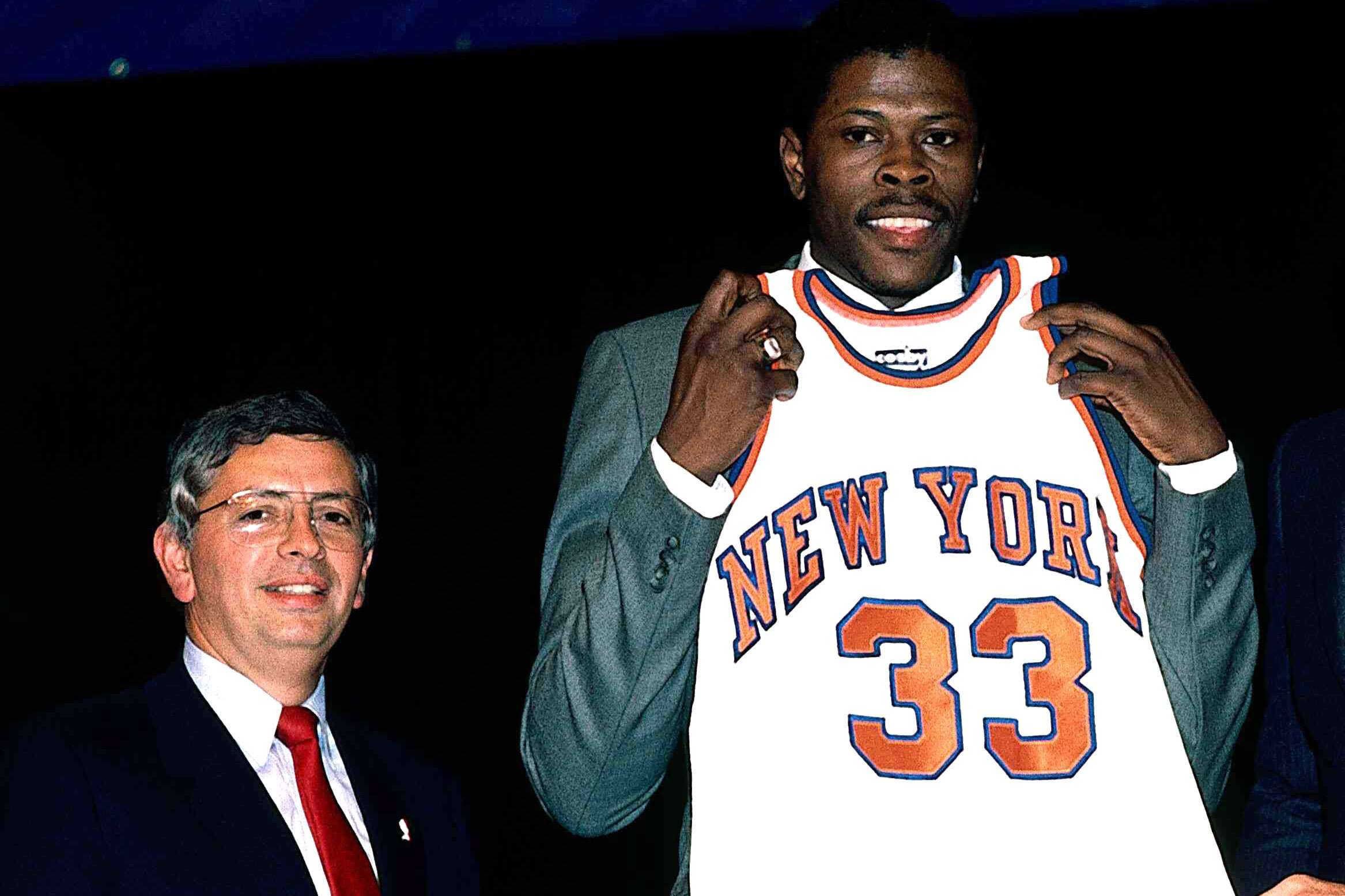 1985 NBA Draft with Patrick Ewing and David Stern
