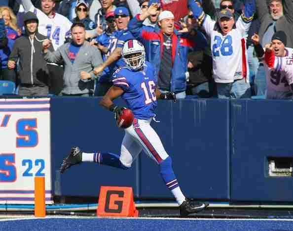 Brad Smith Scores A Touchdown For The Buffalo Bills