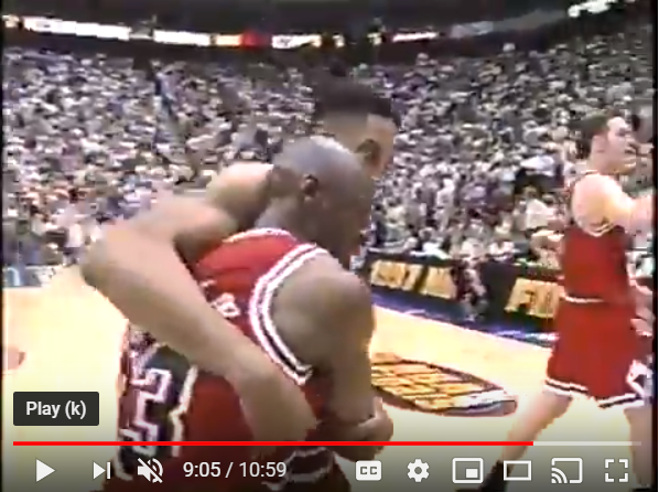 Iconic Moment From The Jordan Flu Game