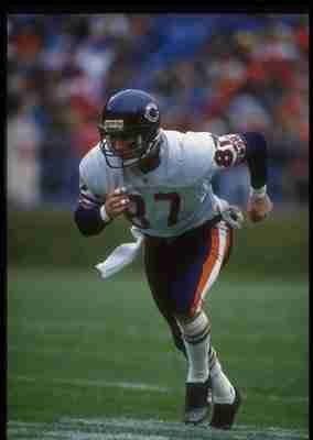 29 Nov 1992: Wide receiver Tom Waddle of the Chicago Bears runs downfield during a game against the Cleveland Browns at Cleveland Stadium in Cleveland, Ohio. The Browns won the game, 27-14.
