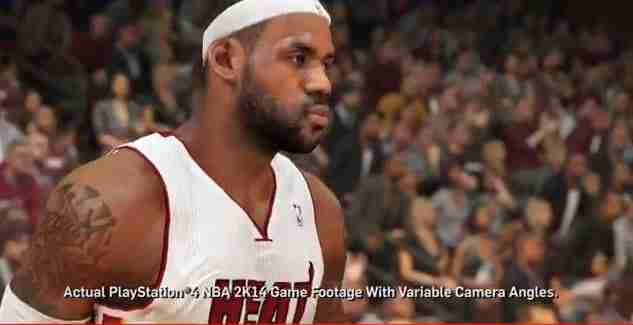 NBA 2k14 video game footage of LeBron James