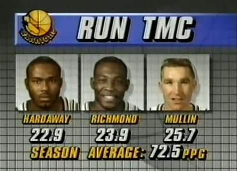 Highest Scoring Game in NBA History; One Of Them Is Owned By The Warriors RUN TMC Squad