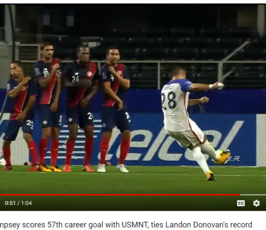 Clint Dempsey Has Scored 57 Goals For The USMNT