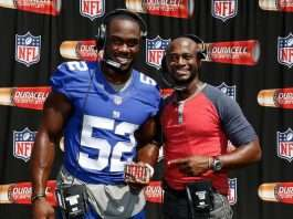 Jon Beason and Taye Diggs