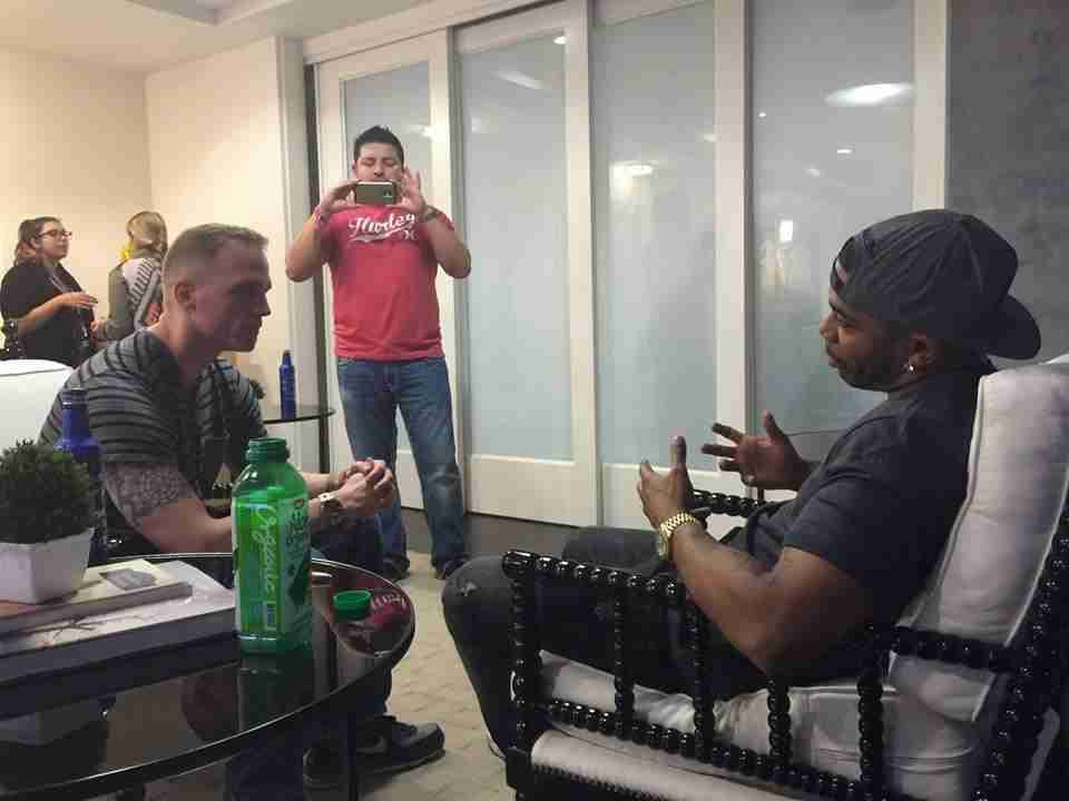 Nelly Interview With Paul Eide At The Super Bowl.