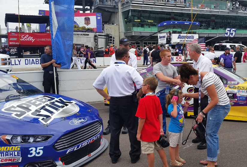 Cole Whitt Prior To A Race At The Brickyard In Indianapolis.