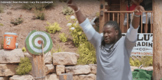 Eddie Lacy Throwing An Axe