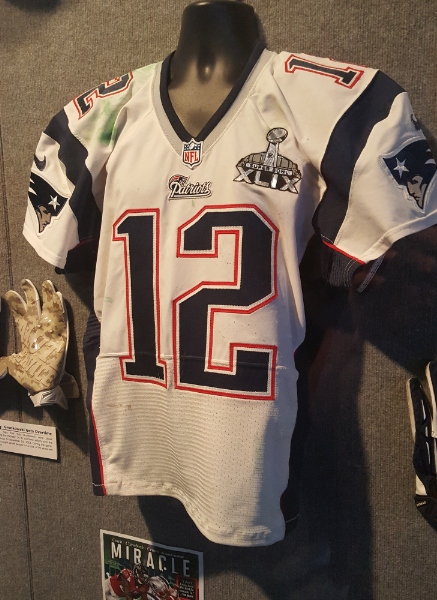 Tom Brady Jersey at The Hall at Patriots Place