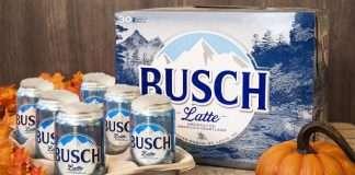 Busch Latte Cans and Busch Latte Box
