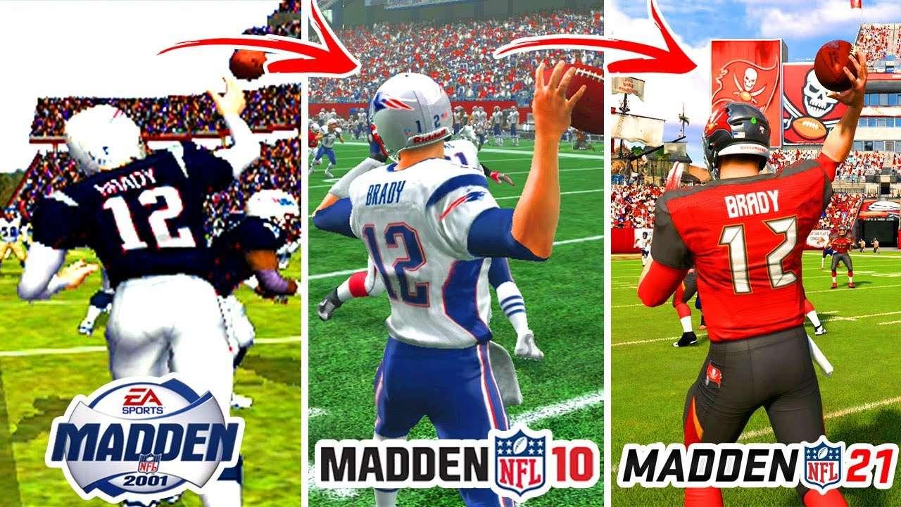 Tom Brady Madden Thru The Years Collage