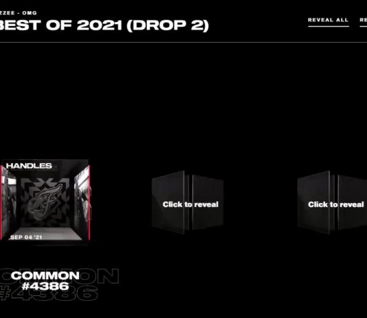 NBA Top Shot pack opening screen